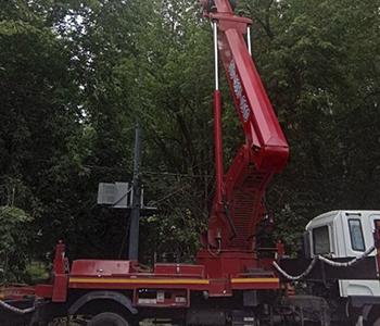 Аренда автовышки для удаление и опиловка деревьев