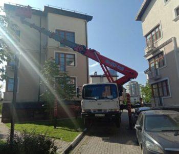 Аренда автовышек для фасадных работ