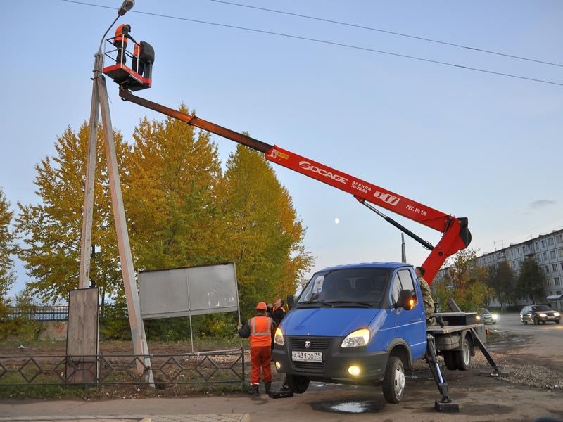 Для замен ламп в уличных фонарях в Москве